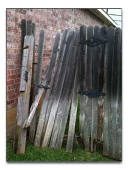fence post gate repair