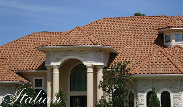 Decra Villa Tile: The look of real tile but much lighter.